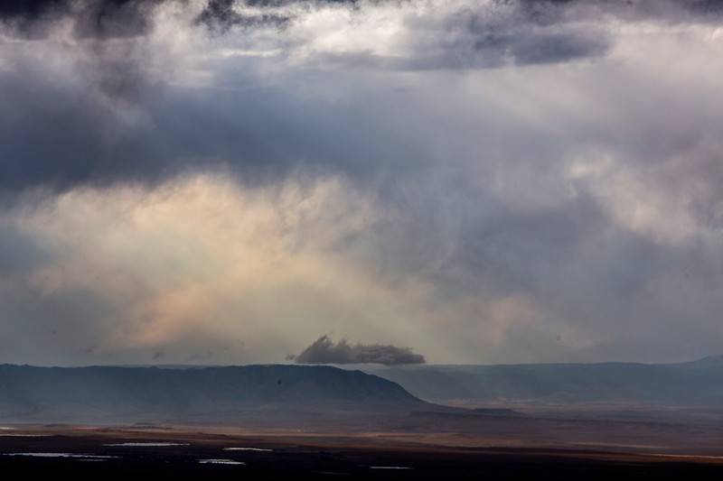 Clouds roll in over Sheep Mountain North and the Laramie Valley Wednesday, October 9, 2019 seen from the Medicine Bow National Forest. Nadav Soroker/Laramie Boomerang