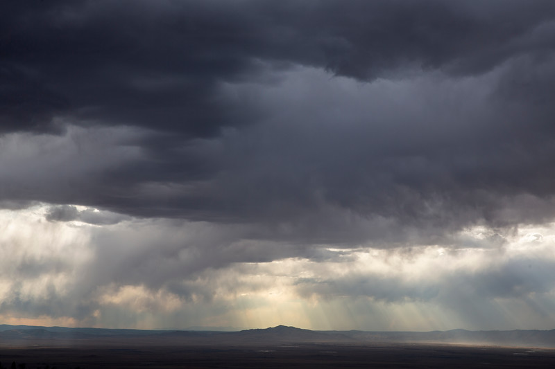 Jelm Mountain, center, is silhouetted among the clouds rolling in over the Laramie Valley Wednesday, October 9, 2019 seen from the Medicine Bow National Forest. Nadav Soroker/Laramie Boomerang