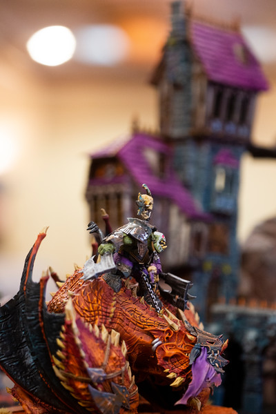 A Maw-krusha figurine in the Warhammer: Age of Sigmar tabletop war game during Olympus Games and Comics' Clash of the Tetons tournament Friday, October 11, 2019 at the Plains Hotel. Clash of the Tetons will continue Saturday with a Warhammer: 40K tournament. Nadav Soroker/Wyoming Tribune Eagle