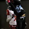 Cheyenne East wide receiver Ox Schroeder (24) hauls in a long pass Friday, October 11, 2019 at Cheyenne East High School. The Cheyenne East High School Thunderbirds defeated the Cheyenne Central High School Indians 24-21. Nadav Soroker/Wyoming Tribune Eagle