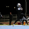 Cheyenne East wide receiver Jackson Hesford (2) hauls in a touchdown pass Friday, October 11, 2019 at Cheyenne East High School. The Cheyenne East High School Thunderbirds defeated the Cheyenne Central High School Indians 24-21. Nadav Soroker/Wyoming Tribune Eagle