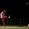 Cheyenne Central punter Andrew Johnson (9) kicks the ball Friday, October 11, 2019 at Cheyenne East High School. The Cheyenne East High School Thunderbirds defeated the Cheyenne Central High School Indians 24-21. Nadav Soroker/Wyoming Tribune Eagle