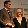 Tyler Matheney accepts the Wyoming Highway Patrolman of the Year award at the Salute to First Responders Banquet and Awards ceremony Saturday, October 12, 2019 at Laramie County Community College. Nadav Soroker/Wyoming Tribune Eagle
