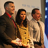 Detective Zach Johnson accepts the Cheyenne Police Department Officer of the Year award at the Salute to First Responders Banquet and Awards ceremony Saturday, October 12, 2019 at Laramie County Community College. Nadav Soroker/Wyoming Tribune Eagle