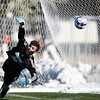 Otero keeper Steve Cline watches the ball sail past him into the goal Saturday, October 12, 2019 at Laramie County Community College. The Laramie County Community College boys soccer team defeat the Otero Junior College soccer team 4-1. Nadav Soroker/Wyoming Tribune Eagle