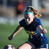 LCCC midfielder/forward Ellie MacKendrick takes control of the ball Saturday, October 12, 2019 at Laramie County Community College. The Laramie County Community College girls soccer team defeated the Otero Junior College team 3-0. Nadav Soroker/Wyoming Tribune Eagle