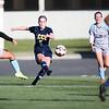 LCCC forward Darby Whiteley kicks the ball Saturday, October 12, 2019 at Laramie County Community College. The Laramie County Community College girls soccer team defeated the Otero Junior College team 3-0. Nadav Soroker/Wyoming Tribune Eagle