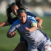 LCCC defender Jessica Lemmon fights for the ball Saturday, October 12, 2019 at Laramie County Community College. The Laramie County Community College girls soccer team defeated the Otero Junior College team 3-0. Nadav Soroker/Wyoming Tribune Eagle