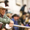A spectator watches the action at the Shawn Dubie Memorial Rodeo Saturday, October 12, 2019 at the  Laramie County Community College Arena. Nadav Soroker/Wyoming Tribune Eagle