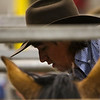 A cowboy gets ready on the chutes in the Shawn Dubie Memorial Rodeo Saturday, October 12, 2019 at the  Laramie County Community College Arena. Nadav Soroker/Wyoming Tribune Eagle