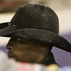 Rickey Williams walks through the arena in the Shawn Dubie Memorial Rodeo Saturday, October 12, 2019 at the  Laramie County Community College Arena. Williams rides bareback for Central Wyoming College in Riverton. Nadav Soroker/Wyoming Tribune Eagle