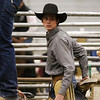 A cowboy gets ready behind the chutes in the Shawn Dubie Memorial Rodeo Saturday, October 12, 2019 at the  Laramie County Community College Arena. Nadav Soroker/Wyoming Tribune Eagle