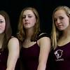 Ashlyn Mathes, Therese Richardson and Maya Peterson are freshman swimmers with the Lady Plainsmen Wednesday, October 16, 2019 at Laramie High School. Nadav Soroker/Laramie Boomerang