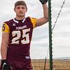 Colter Nunn, a running back for the Laramie High School Plainsmen, poses for a portrait Thursday, October 17, 2019 at Deti Stadium. Nadav Soroker/Laramie Boomerang