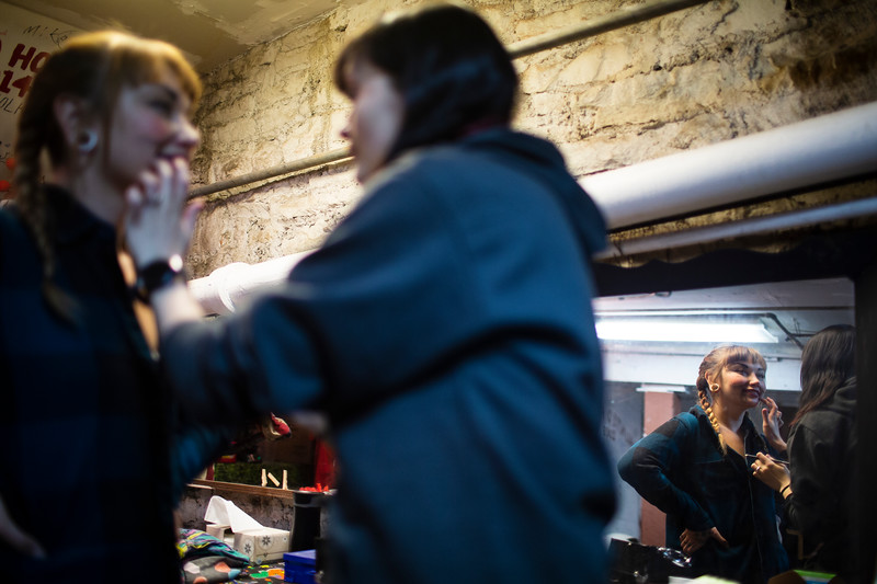 Dallas Palso does Gemini Mathew's Annabelle makeup  behind the scenes of the Nightmare on 17th Street haunted house, Friday, Oct. 18, 2019 at the Knights of Pythias building. The haunted house is in its 31st year of scaring for charity. Nadav Soroker/Wyoming Tribune Eagle