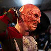 Michael Greene pulls on a Freddy Krueger mask behind the scenes of the Nightmare on 17th Street haunted house, Friday, Oct. 18, 2019 at the Knights of Pythias building. The haunted house is in its 31st year of scaring for charity. Nadav Soroker/Wyoming Tribune Eagle