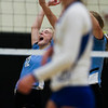 East senior Madison Blaney (12) celebrates a kill Saturday, Oct. 19, 2019 at the Thunderdome. The Cheyenne East High School Lady Thunderbirds volleyball lost to the Thunder Basin Lady Bolts in four sets. Nadav Soroker/Wyoming Tribune Eagle