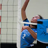 East senior Shae Halls (2) hits the ball Saturday, Oct. 19, 2019 at the Thunderdome. The Cheyenne East High School Lady Thunderbirds volleyball lost to the Thunder Basin Lady Bolts in four sets. Nadav Soroker/Wyoming Tribune Eagle