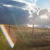 The sun sets through the grass Monday, Oct. 21, 2019 along State Road 210. Nadav Soroker/Wyoming Tribune Eagle