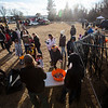 Mark McCoy, with Arbor Solutions, and Bret McCoy, with Premier Lawn and Tree Care, give out candy at the Cheyenne Small Business Trunk or Treat Thursday, Oct. 24, 2019 on Wallick Road. Nadav Soroker/Wyoming Tribune Eagle