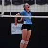 East junior Hailey Marshall (16) cheers a point Thursday, Oct. 24, 2019 in the Thunderdome. Cheyenne East volleyball defeated Cheyenne South in straight sets. Nadav Soroker/Wyoming Tribune Eagle