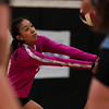 South sophomore Reyna Tover (33) receives the ball  Thursday, Oct. 24, 2019 in the Thunderdome. Cheyenne East volleyball defeated Cheyenne South in straight sets. Nadav Soroker/Wyoming Tribune Eagle