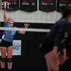 East senior Makylee Buell (13) serves to Cheyenne South Thursday, Oct. 24, 2019 in the Thunderdome. Cheyenne East volleyball defeated Cheyenne South in straight sets. Nadav Soroker/Wyoming Tribune Eagle