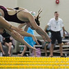 Katie McPherson leaves the block at the start of her heat in the 100 Yard Freestyle prelims in the West Conference regional swimming championships Friday, Oct. 25, 2019 at the Laramie High School Natatorium. Nadav Soroker/Laramie Boomerang
