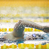 Sydney Holles swims in her heat in the 500 Yard Freestyle prelims in the West Conference regional swimming championships Friday, Oct. 25, 2019 at the Laramie High School Natatorium. Nadav Soroker/Laramie Boomerang