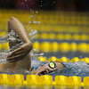 Libby Moore swims in her heat in the 500 Yard Freestyle prelims in the West Conference regional swimming championships Friday, Oct. 25, 2019 at the Laramie High School Natatorium. Nadav Soroker/Laramie Boomerang
