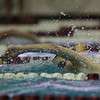 Sage Morton dives off the block in her heat in the 500 Yard Freestyle prelims in the West Conference regional swimming championships Friday, Oct. 25, 2019 at the Laramie High School Natatorium. Nadav Soroker/Laramie Boomerang