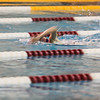 Ashlyn Mathes swims in her heat in the 500 Yard Freestyle prelims in the West Conference regional swimming championships Friday, Oct. 25, 2019 at the Laramie High School Natatorium. Nadav Soroker/Laramie Boomerang