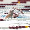 Katie McPherson swims in the 100 Yard Freestyle prelims in the West Conference regional swimming championships Friday, Oct. 25, 2019 at the Laramie High School Natatorium. Nadav Soroker/Laramie Boomerang