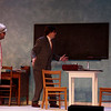 Brad Homan, as Willie Clark, and Rory Mack, as Al Lewis, rehearse a scene from The Sunshine Boys in which their characters are rehearsing a vaudeville scene, Tuesday, Oct. 29, 2019 at the Mary Godfrey Playhouse. Nadav Soroker/Wyoming Tribune Eagle