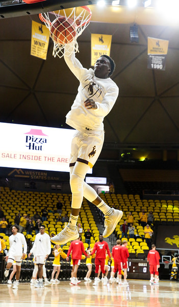 The Wyoming Cowboys basketball team hosts the Northwest Nazarene Nighthawks for an exhibition match Wednesday, Oct. 30, 2019 at Arena-Auditorium. Nadav Soroker/Laramie Boomerang