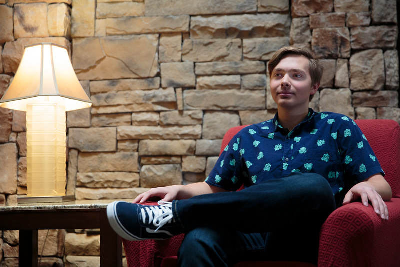 Ryan Williams sits for a portrait before he receives the Citizenship Award for South High School from the Laramie County Retired Educational Personnel Monday, Nov. 4, 2019 at their meeting at the Red Lion Hotel. Nadav Soroker/Wyoming Tribune Eagle