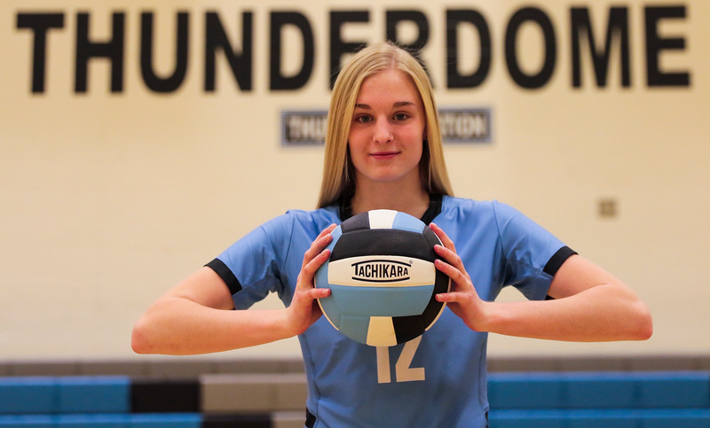 Madison Blaney, a senior volleyball player at East High School, poses for a portrait as the Prep Athlete of the Week Tuesday, Nov. 5, 2019 at the Thunderdome. Nadav Soroker/Wyoming Tribune Eagle