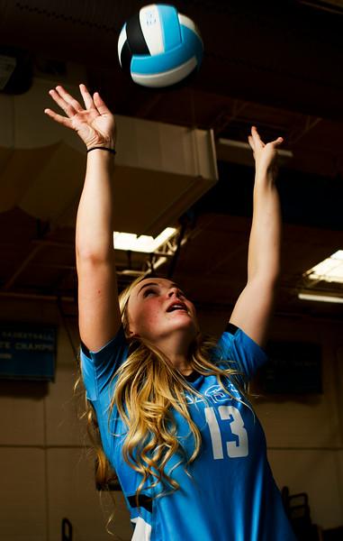 Makylee Buell, a senior setter for Cheyenne East High School, is the WyoSports Prep Athlete of the Week Tuesday, Nov. 12, 2019 at Cheyenne East High School. Nadav Soroker/Wyoming Tribune Eagle
