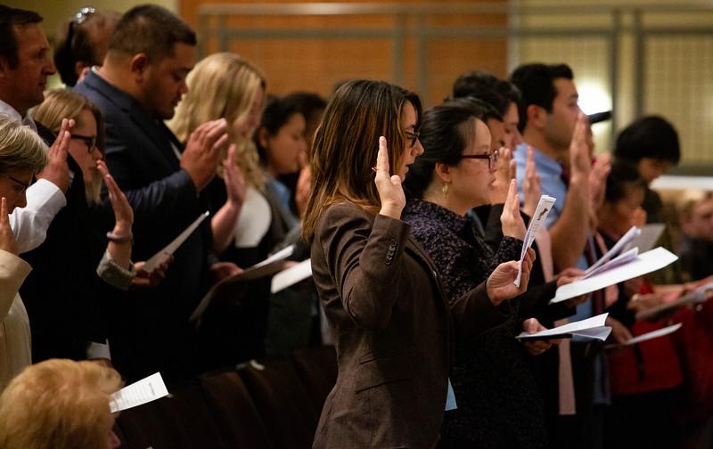 A naturalization ceremony for new United States Citizens Monday, Nov. 18, 2019 at Cheyenne South High School. Nadav Soroker/Wyoming Tribune Eagle