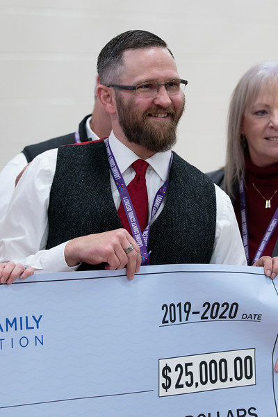 Johnson Junior High School Principal Brian Cox wins the only 2019 Milken Educators Award for Wyoming Monday, Dec. 9, 2019 at Johnson Junior High School. Nadav Soroker/Wyoming Tribune Eagle