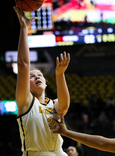 Wyoming forward Tereza Vitulova (2) attempts a layup, Thursday, Dec. 12, 2019 at Arena-Auditorium. The Wyoming Cowgirls defeated the Mississippi Valley Devilettes 95-22. Nadav Soroker/Laramie Boomerang