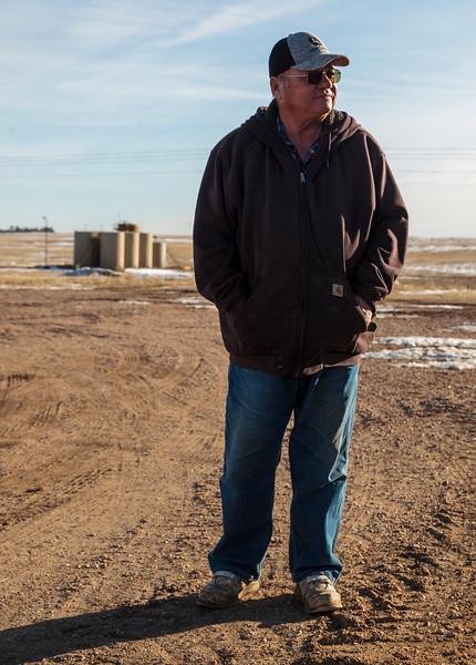Owen Goertz, a pilot rancher for a new oil water reclamation program, tours his property Friday, Dec. 13, 2019 near Hillsdale. Nadav Soroker/Wyoming Tribune Eagle
