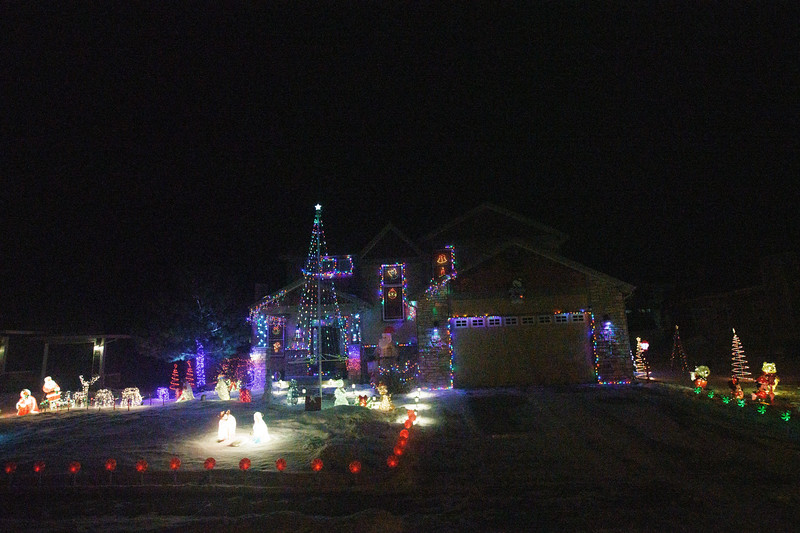 Sue James takes guests on a tour of holiday lights Tuesday, Dec. 17, 2019 in North Cheyenne. Nadav Soroker/Wyoming Tribune Eagle