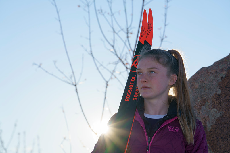 Abigail Whitman is a nordic skier Wednesday, Dec. 18, 2019 at Laramie High School. Nadav Soroker/Laramie Boomerang