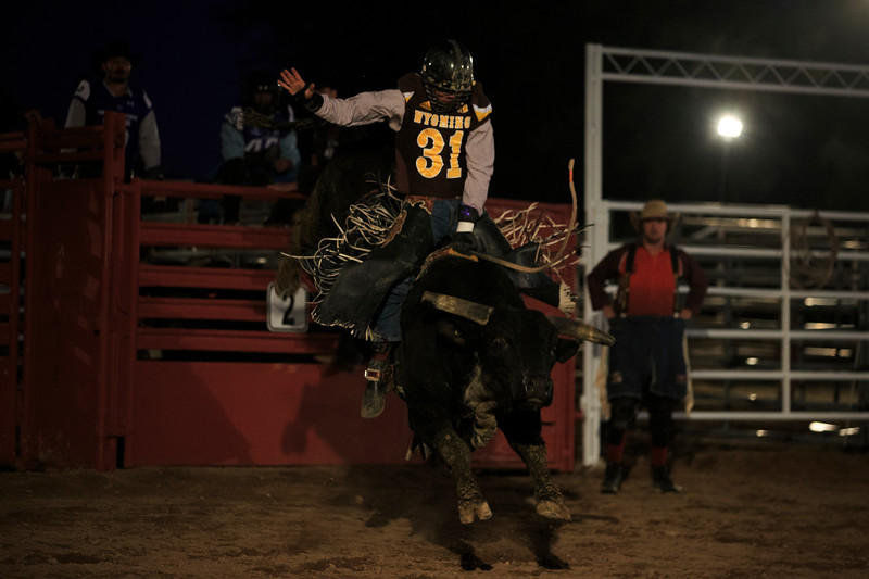 The Wyoming Cowboys and Georgia State Panthers watch rodeo Sunday, Dec. 29, 2019 at Old Tucson in Tucson. Nadav Soroker/Wyoming Tribune Eagle