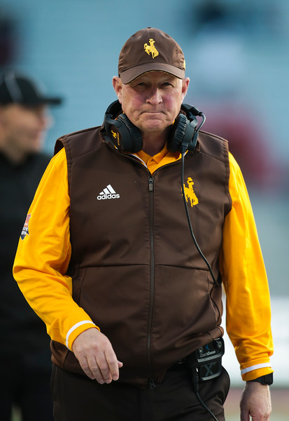 Wyoming head coach Craig Bohl walks the sidelines Tuesday, Dec. 31, 2019 at the University of Arizona. The Wyoming Cowboys defeat the Georgia State Panthers 38-17 to win the Arizona Bowl. Nadav Soroker/Wyoming Tribune Eagle