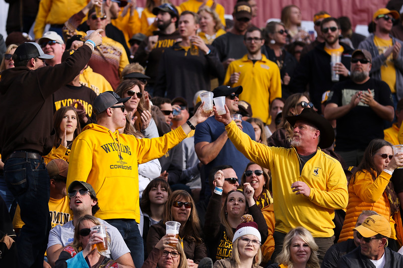 "Wyoming fans cheer during ""Beer Song"" Tuesday, Dec. 31, 2019 at the University of Arizona. The Wyoming Cowboys lead the Georgia State Panthers 24-10 at halftime in the Arizona Bowl. Nadav Soroker/Wyoming Tribune Eagle"
