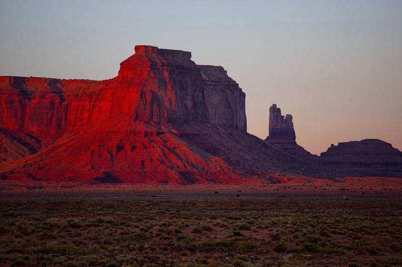 Red Rocks At Sunset