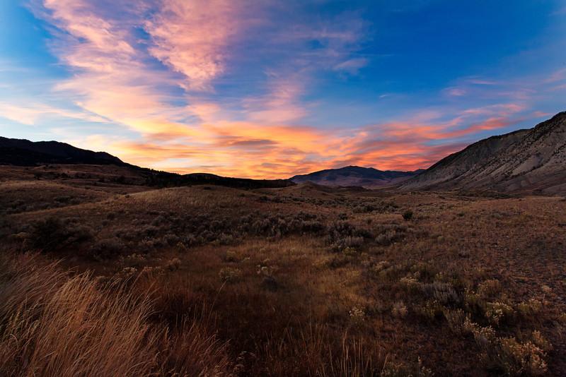 Mammoth Falls Sunset