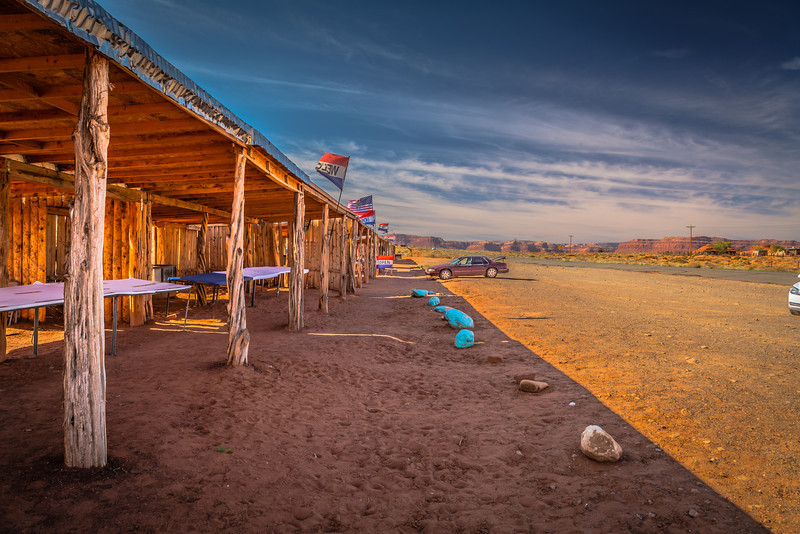 Road-side stall, Monument Valley